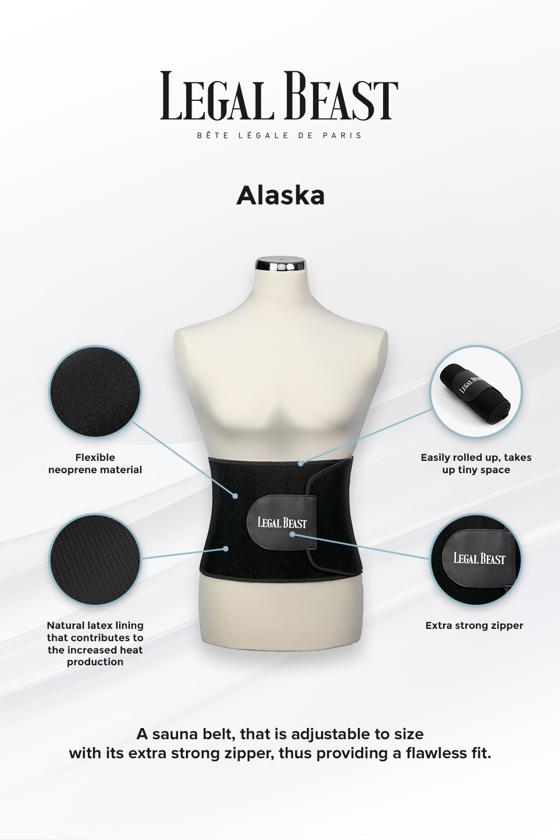 Legal Beast Alaska - Sauna belt - Phantom black - L