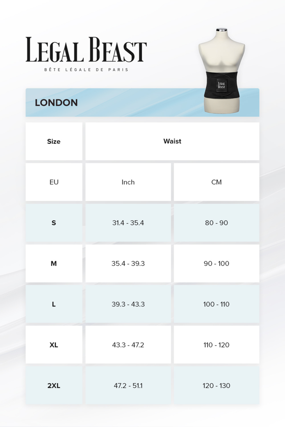 Legal Beast London - Sports Belt with Extra Waistband - Phantom black - S