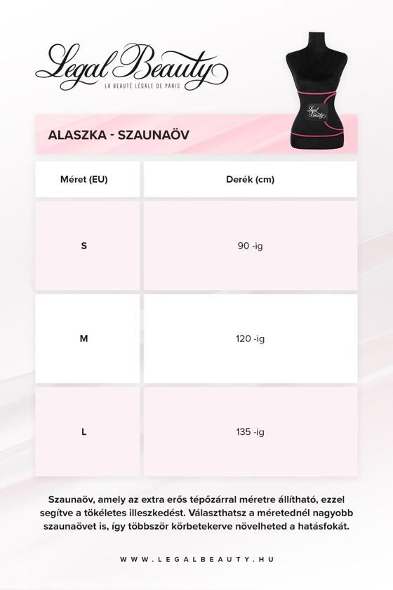 Alaszka - Szaunaöv - Rózsaszín szegéllyel - M