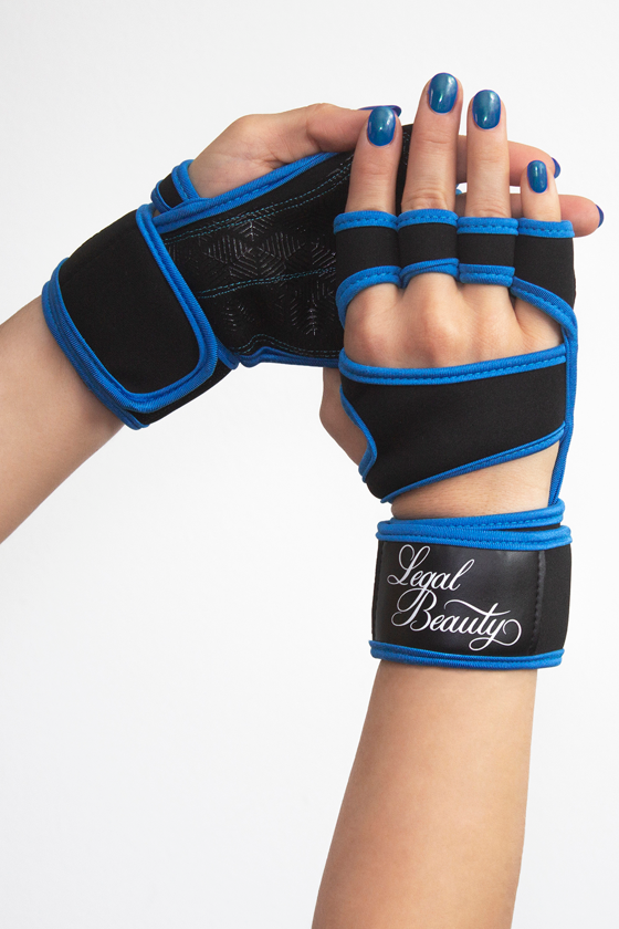 Women's sports gloves - Sky blue