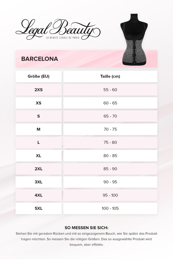 Barcelona - Shapewear Waist Trainer Neopren Korsett Weste mit Reißverschluss - Grau melange - XXS