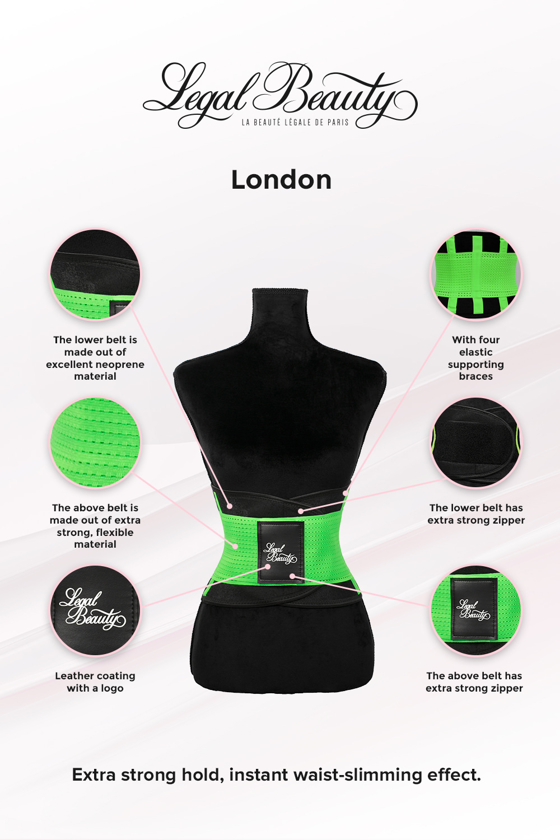 London - Sports Belt with Extra Waistband - Neon green - S