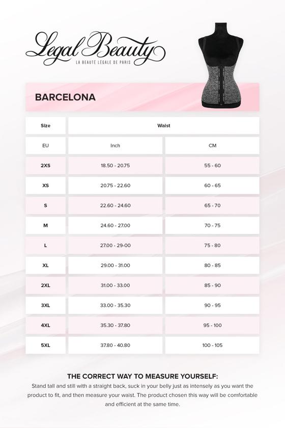 Barcelona - Zipper Neoprene Waist Trainer Vest - Grey melange - XXS