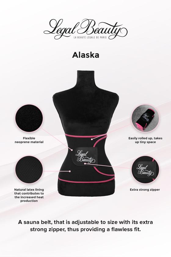 Alaska - Sauna belt - Pink border - L