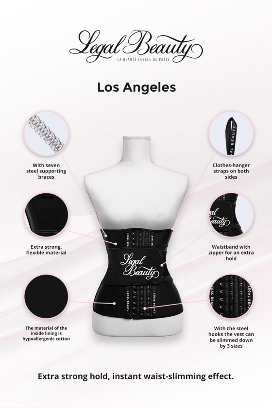 Los Angeles - Waist Trainer with Waistband - Jet black - XS