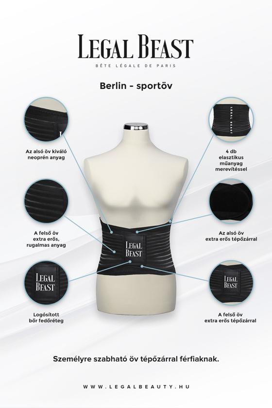 Legal Beast Berlin - Sportöv extra derékpánttal - Fantomfekete - S
