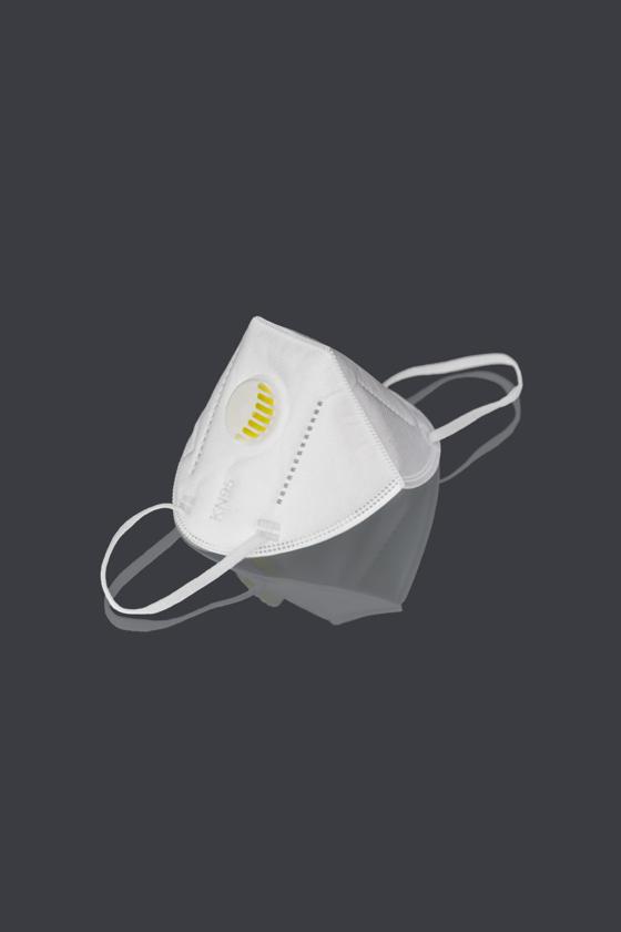 FFP2  (N95/KN95) 6 rétegű maszk - szelepes - fehér - 10 db - Arcmaszk - 10 db - Fehér