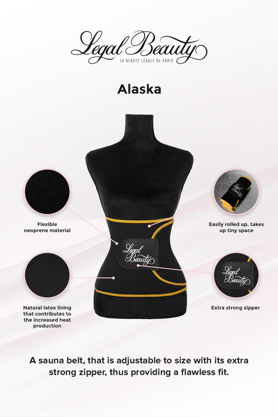 Alaska - Sauna belt - Bumblebee yellow border - L
