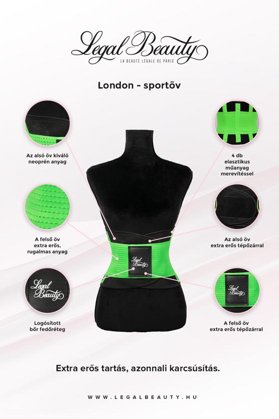 London - Sportöv extra derékpánttal - Neon zöld - XXL