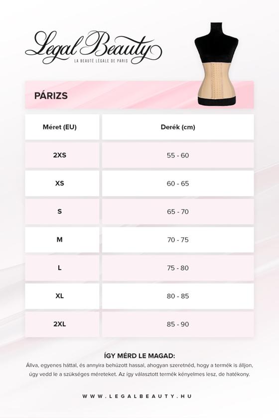 Párizs - Nude - Alakformáló fűző + Méretbővítő
