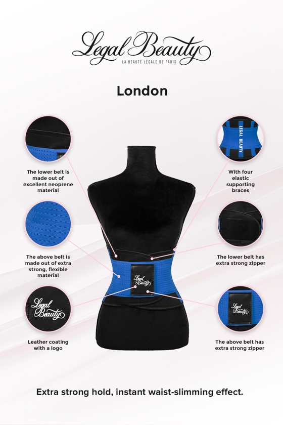 London - Sports Belt with Extra Waistband - Sky blue - S