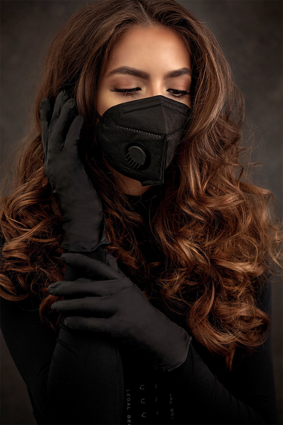 Prémium minőségű Legal Beauty nitril kesztyű - fekete - 60 db - Fekete - M