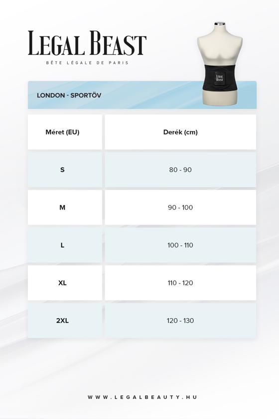 Legal Beast London - Sportöv extra derékpánttal - Fantomfekete - S