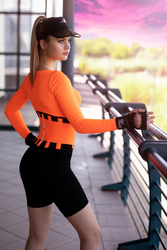 London - Waist Trainer Sportgürtel - Neon Orange