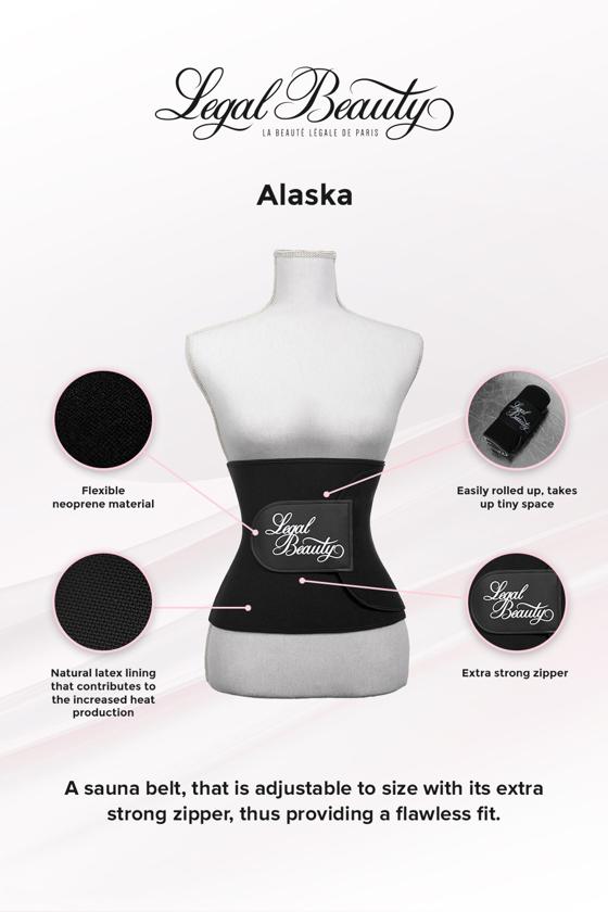 Alaska - Sauna belt - Jet black - L