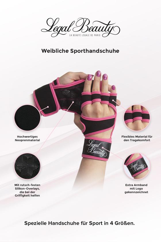 Weibliche Sporthandschuhe - Sporthandschuhe - Neon Pink - S