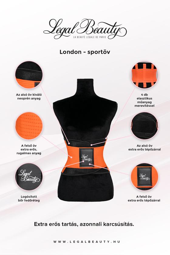 London - Sportöv - Neon narancs - S