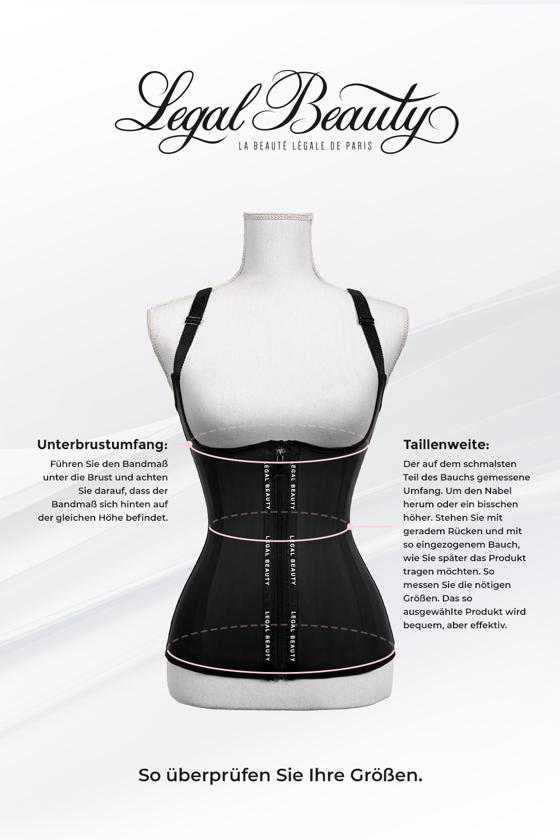 London - Waist Trainer Sportgürtel mit extra Taillengürtel - Rubinrot - L
