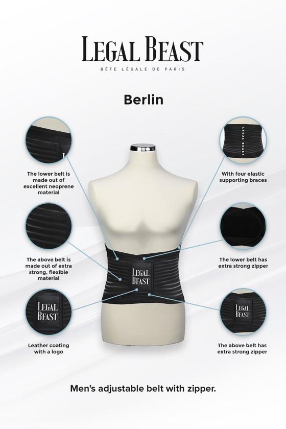 Legal Beast Berlin - Sports Belt with Extra Waistband - Phantom black - S
