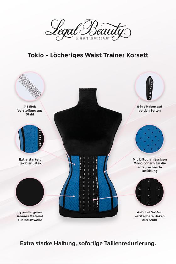 Tokyo - Shapewear Löcheriges Korsett - Himmelblau - XXS