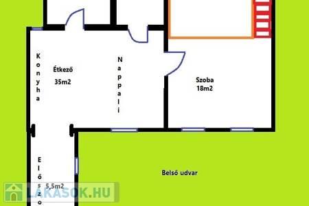 Eladó  lakás Budapest V. ker, 64.000.000 Ft, 74 négyzetméter