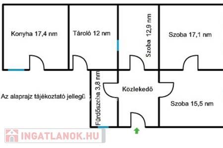 Eladó  ház Szurdokpüspöki, 5.500.000 Ft, 85 négyzetméter