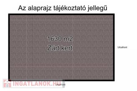 Eladó  telek/földterület Szeged, 7.890.000 Ft, 1.630 m<sup>2</sup>