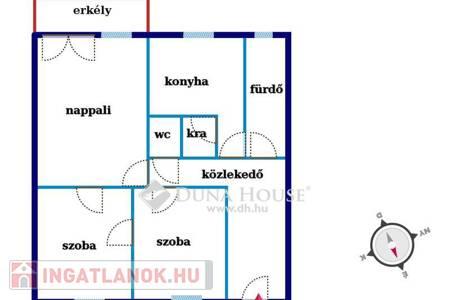 Eladó  lakás Vác, 22.000.000 Ft, 64 négyzetméter