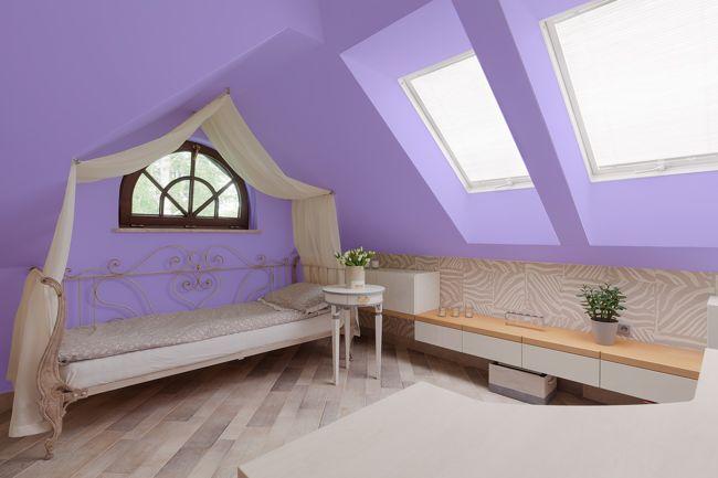 A világos lila színek nyugtatóan hatnak