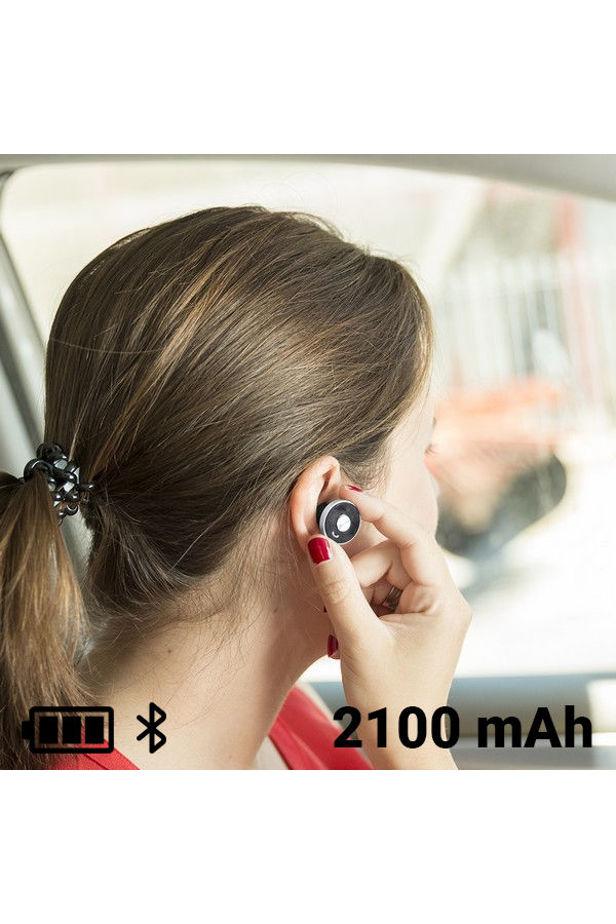 Autós USB Töltő Kihangosítható Fejhallgatóval 2100 mAh Bluetooth 145527 - Ezüst/Fekete