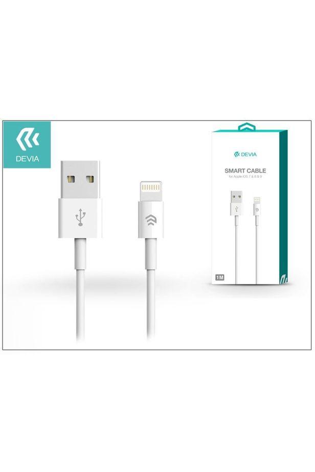 Devia Smart Apple iPhone 5/5S/5C/SE/iPad 4/iPad Mini USB töltő- és adatkábel 1m fehér /ST986650/