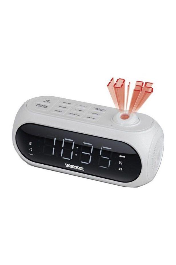 Rádiós Ébresztőóra LCD Projektorral Daewoo DCP-490 180º FM - Fekete